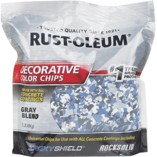 Rust-Oleum Color Chip Concrete Coating, 1 Lb., Gray