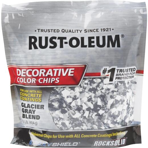 Rust-Oleum Color Chip Concrete Coating, 1 Lb., Glacier Gray