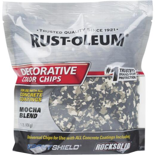 Rust-Oleum Color Chip Concrete Coating, 1 Lb., Mocha